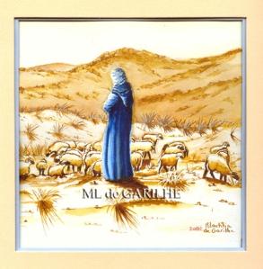 Aquarelle berger marocain