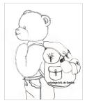 coloriage Toudouk et son sac à dos