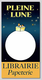 Logo librairie pleine lune