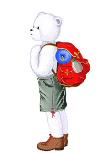 toudouk de profil avec son sac à dos redm.
